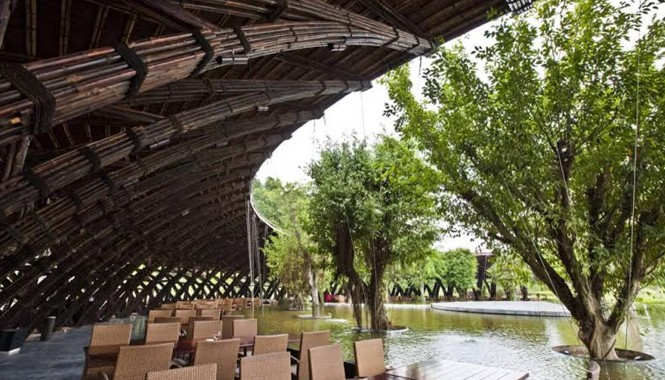 Mái vòm tre Bamboo Wing của Võ Trọng Nghĩa đoạt giải Kiến trúc xanh tại Mỹ.