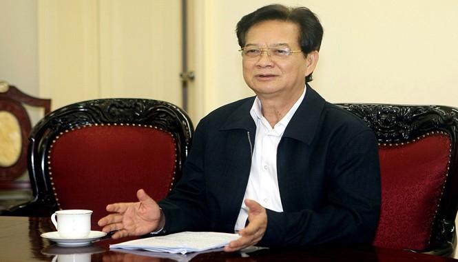 Thủ tướng Nguyễn Tấn Dũng chủ trì cuộc họp về chuẩn bị kỳ thi chung tốt nghiệp THPT và tuyển sinh đại học, cao đẳng. Ảnh: Phạm Kiên.