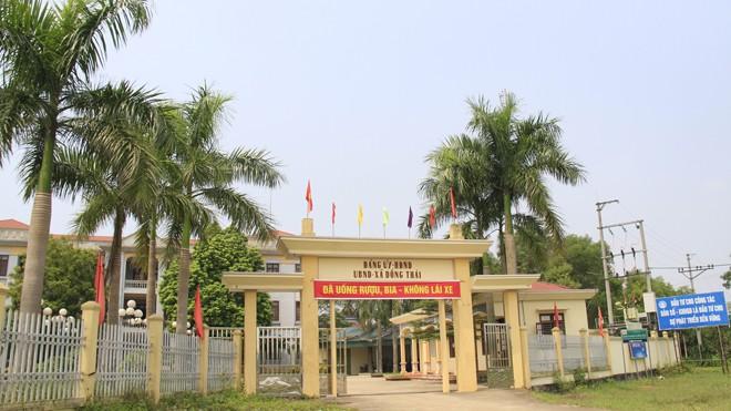 Trụ sở UBND xã Đồng Thái (Ba Vì, Hà Nội).