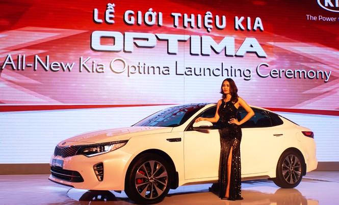 Kia Optima - mẫu xe thành công nhất toàn cầu vừa ra mắt của THACO. Ảnh: Tuấn Nguyễn.