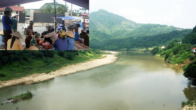 Thượng nguồn sông Vu Gia nơi gần vị trí dự kiến đặt nhà máy thép (ảnh lớn) Nhà máy thép Việt Pháp tại Điện Bàn bị người dân phản đối (ảnh nhỏ). Ảnh: Ng Thành.