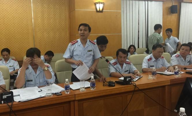 Ông Hoàng Hưng, Phó vụ trưởng Vụ Tổ chức cán bộ - TTCP giải thích về việc bổ nhiệm ông Nguyễn Minh Mẫn tại cuộc họp báo thường kỳ quý 3/2016.