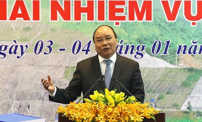 Thủ tướng Chính phủ Nguyễn Xuân Phúc phát biểu tại hội nghị. Ảnh: Như Ý.