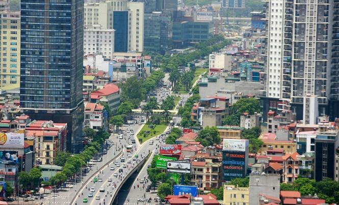 Khu Đô thị Trung Hòa-Nhân Chính (Hà Nội) có mật độ xây dựng dày đặc. Ảnh: Như Ý.