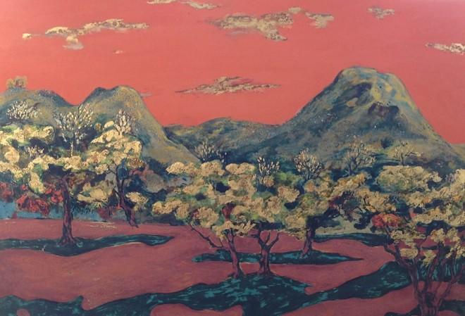 Một tác phẩm sơn mài của Vũ Anh Tuấn.