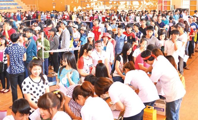 Hiến máu đã trở thành phong trào rộng khắp trên cả tỉnh Đắk Lắk.