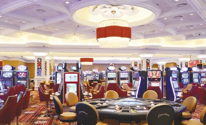 Bên trong khu chơi casino Hồ Tràm (Bà Rịa - Vũng Tàu).