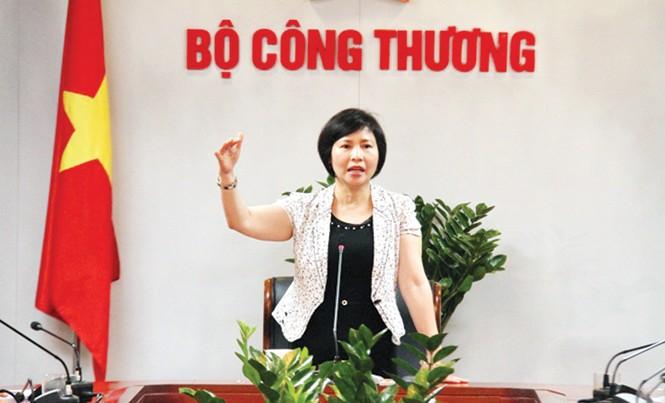 Thứ trưởng Bộ Công Thương Hồ Thị Kim Thoa.