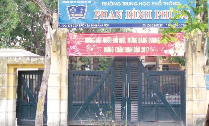Trường THPT Phan Đình Phùng, Hà Nội. Ảnh: P.V.