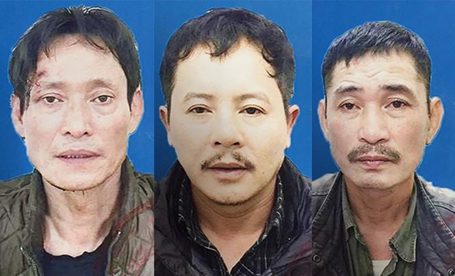 Ba đối tượng tại cơ quan điều tra.