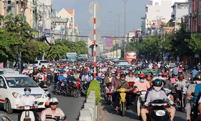 TPHCM sẽ triển khai nhiều biện pháp mạnh để kéo giảm tình trạng ùn tắc giao thông. Ảnh: Huy Thịnh.