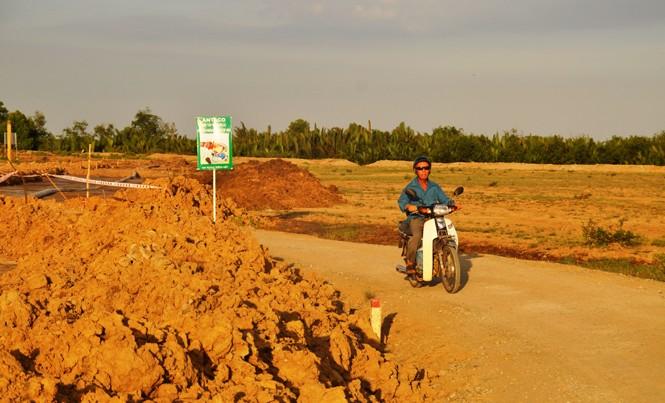Khu vực dự án Trung tâm nhiệt điện Long An tại xã Phước Vĩnh Đông, huyện Cần Giuộc, Long An.