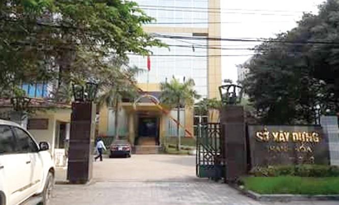 Sở Xây dựng Thanh Hóa, nơi ông Ngô Văn Tuấn từng làm giám đốc.