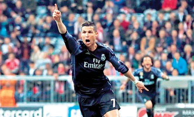 Ronaldo tiếp tục thiết lập những kỷ lục mới tại đấu trường châu Âu. Ảnh: GETTY IMAGES.