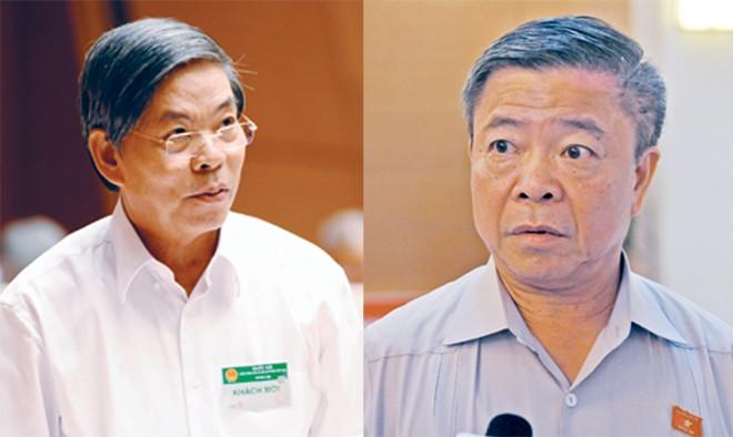 Ông Nguyễn Minh Quang (bìa trái) và Ông Võ Kim Cự. Ảnh: Như Ý.