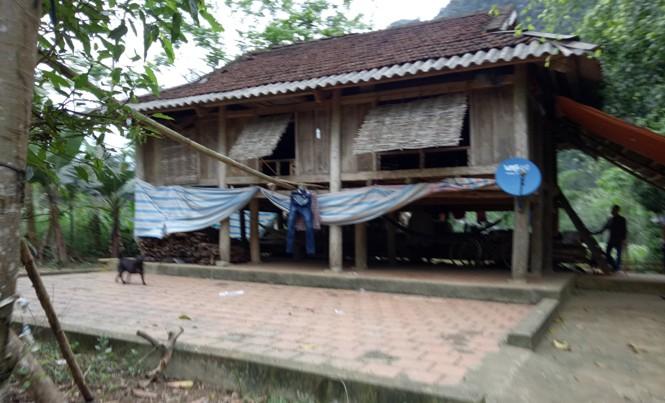 Ngôi nhà của gia đình bé T.