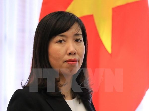 Người phát ngôn Bộ Ngoại giao Việt Nam Lê Thị Thu Hằng. (Nguồn: TTXVN)