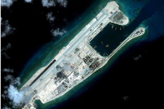 Đá Chữ Thập thuộc quần đảo Trường Sa của Việt Nam đang bị phía Trung Quốc chiếm đóng trái phép. (Nguồn: Reuters)