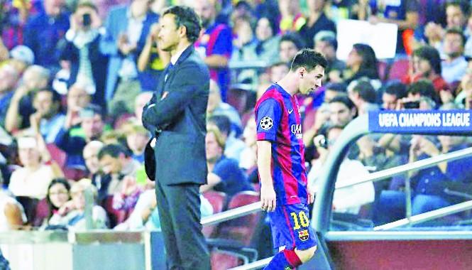Mâu thuẫn giữa Luis Enrique và Messi đang lên tới đỉnh điểm.