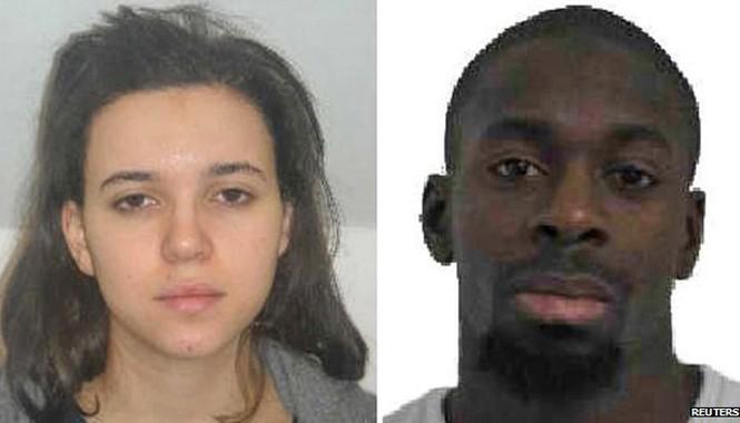 Vợ chồng Boumeddiene/Coulibaly. Ảnh: Reuters