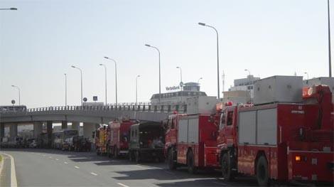 Các lực lượng chức năng phối hợp cùng Cảnh sát PCCC phòng chống cháy nổ, cứu hộ cứu nạn.