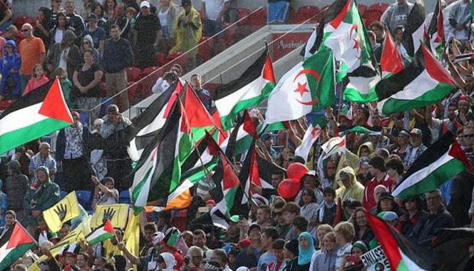 CĐV Palestine đông thứ nhì sau CĐV chủ nhà Australia tại Asian Cup 2015. Ảnh: Getty Images
