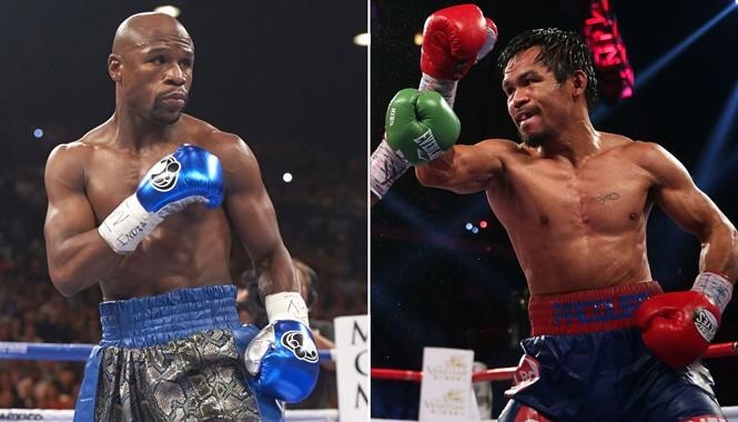Cuộc đối đầu kinh điển giữa Pacquiao (phải) và Mayweather (trái) sẽ sớm được xác định? Ảnh: Getty Images