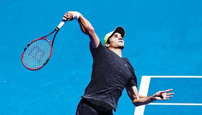 Federer và các cây vợt sẽ phải thi đấu dưới cái nắng chói chang tại Melbourne Park. Ảnh: ausopen.com