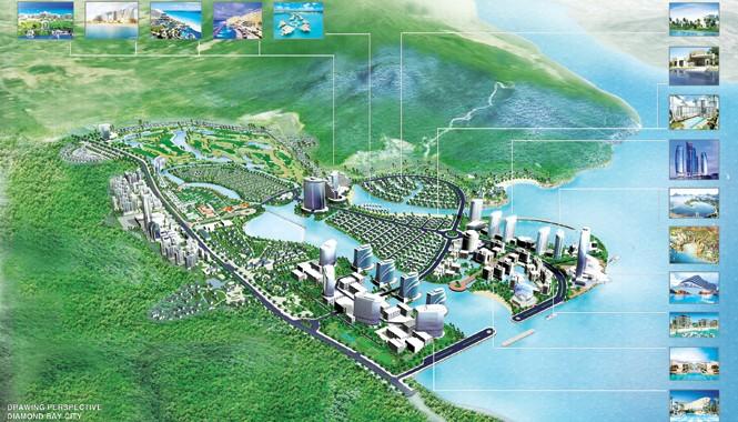 Phối cảnh tổng thể khu đô thị thuộc Diamond Bay City