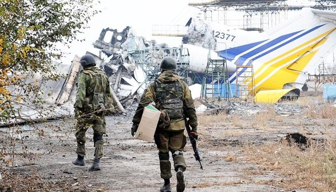 Giao tranh ác liệt kéo dài tại sân bay Donetsk. Ảnh: Getty Images