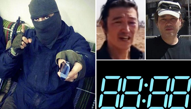 IS được cho là đã tung đoạn phim mới nhất về vụ giết hại một con tin Nhật Bản. Ảnh: Mirror