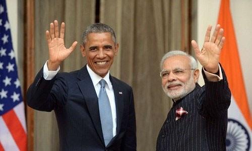 Tổng thống Mỹ, Barack Obama và Thủ tướng Ấn Độ, Narendra Modi