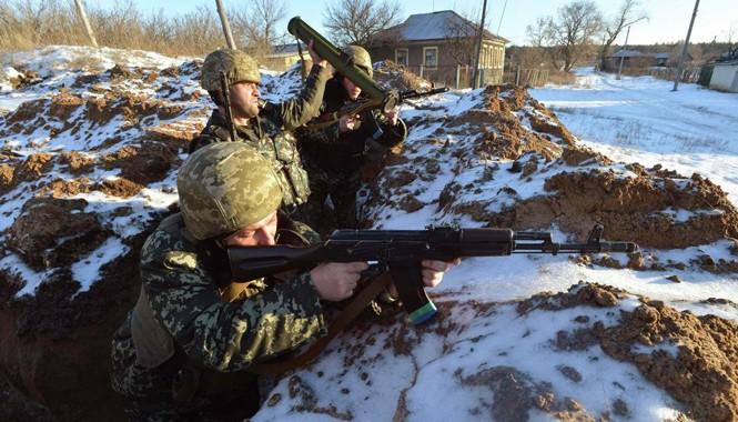 Binh sĩ Ukraine tham gia chiến dịch quân sự ở đông nam đất nước. Ảnh: Sputnik