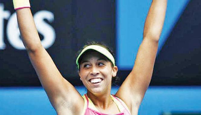 Madison Keys hạnh phúc với chiến thắng trước thần tượng một thời Venus Williams. Ảnh: Getty Images