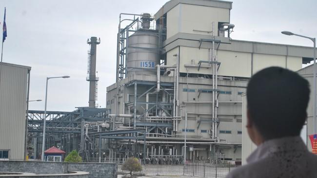 Một góc nhà máy sản xuất xơ sợi Đình Vũ. Ảnh: Nguyễn Bằng