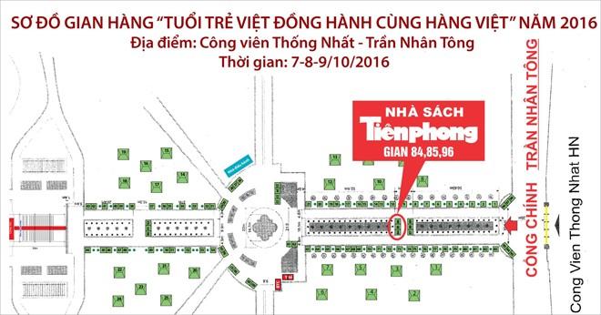 """Nhà sách Tiền Phong tham gia sự kiện """"Tuổi trẻ Việt Đồng hành cùng hàng Việt"""""""