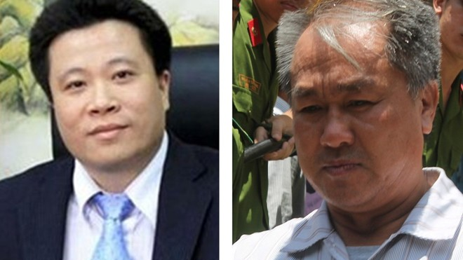 Ông Hà Văn Thắm (trái) và ông Phạm Công Danh.