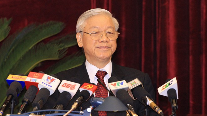 Tổng Bí thư Nguyễn Phú Trọng phát biểu khai mạc Hội nghị Trung ương 4