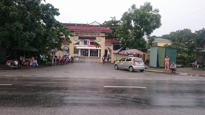 Bệnh viện Đa khoa Đức Thọ, nơi thai lưu được lấy ra.
