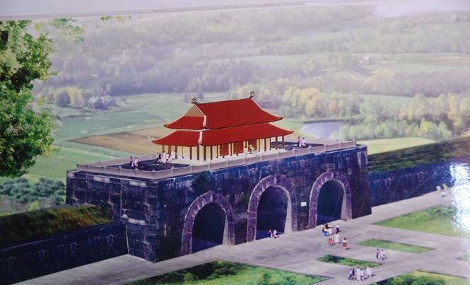 Mô hình Vọng lâu Cổng Nam Thành Hồ.