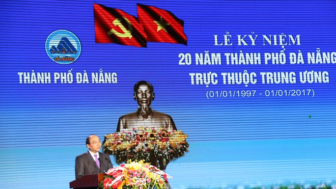 Thủ tướng Nguyễn Xuân Phúc phát biểu tại buổi lễ. Ảnh: Lê Anh Dũng