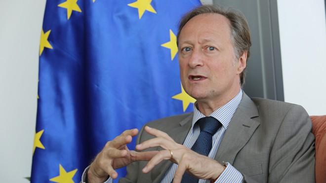 Đại sứ, Trưởng Phái đoàn Liên minh châu Âu (EU) tại Việt Nam Bruno Angelet. Ảnh: Như Ý