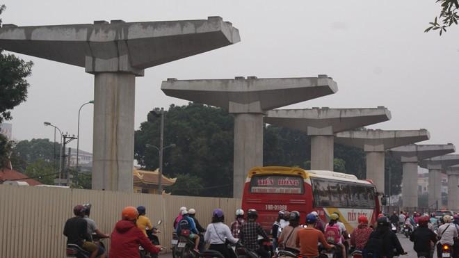 Dự án đường sắt trên cao đoạn Nhổn - ga Hà Nội. Ảnh: N.M