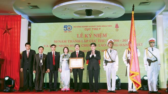 Ngày 9/7/2016, Bộ trưởng Bộ NN&PTNT được sự ủy quyền của Chủ tịch nước đã trao cho Cục Thú y Huân chương Lao động hạng Nhất vì đã có thành tích xuất sắc trong công tác phòng chống bệnh gia súc, gia cầm và thủy sản từ năm 2011 đến năm 2015.