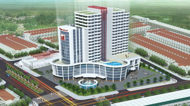 Phối cảnh khách sạn 5 sao tại Núi Sam của Tập đoàn Sao Mai