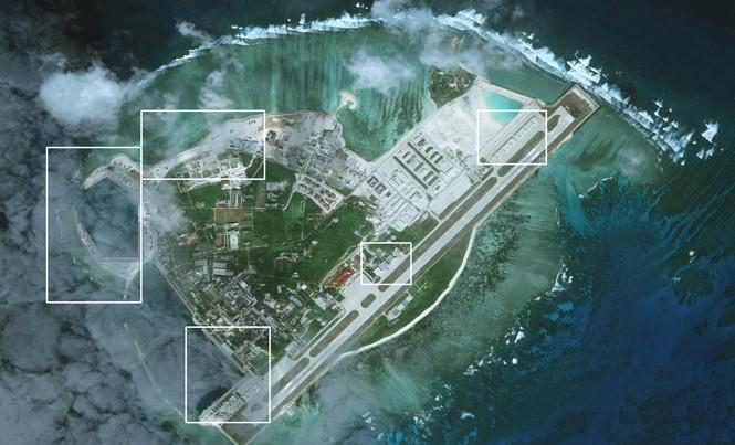 Đảo Phú Lâm ngày 28/1/201. Ảnh: CSIS/AMTI