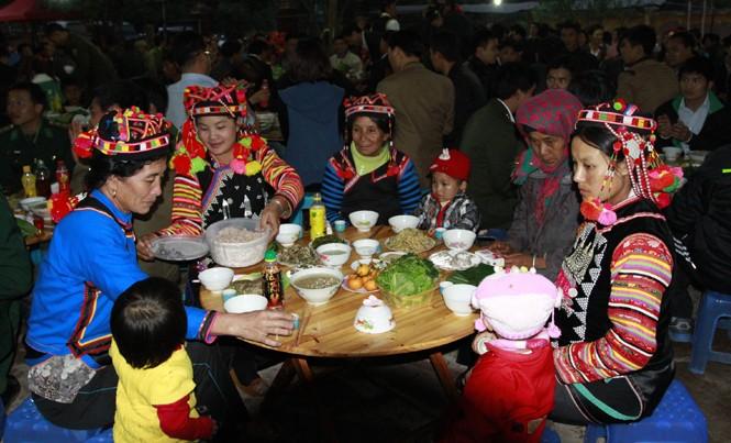 Tết của đồng bào dân tộc Hà Nhì là ngày hội ở vùng đất ngã ba biên giới xã Sín Thầu (Mường Nhé, Điện Biên). Ảnh: Xuân Tùng