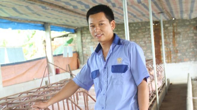 Khu chăn nuôi lợn nái sinh sản của anh Nguyễn Văn Hịu