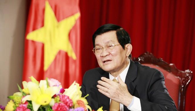Chủ tịch nước Trương Tấn Sang. Ảnh: Hồng Vĩnh