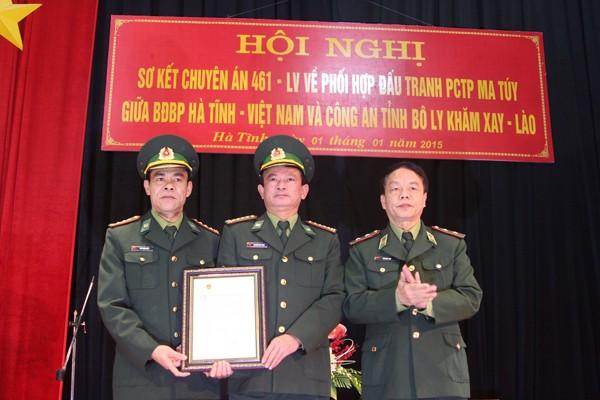 Trung tướng Võ Trọng Việt trao Thư khen của Bộ trưởng Bộ Quốc phòng cho BĐBP Hà Tĩnh
